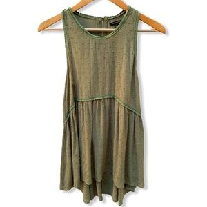 Staccato Green Textured Tank Size Small